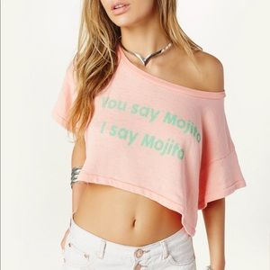 Wildfox Tops - Wildfox You Say Mojito Valley Girl Beach Tee